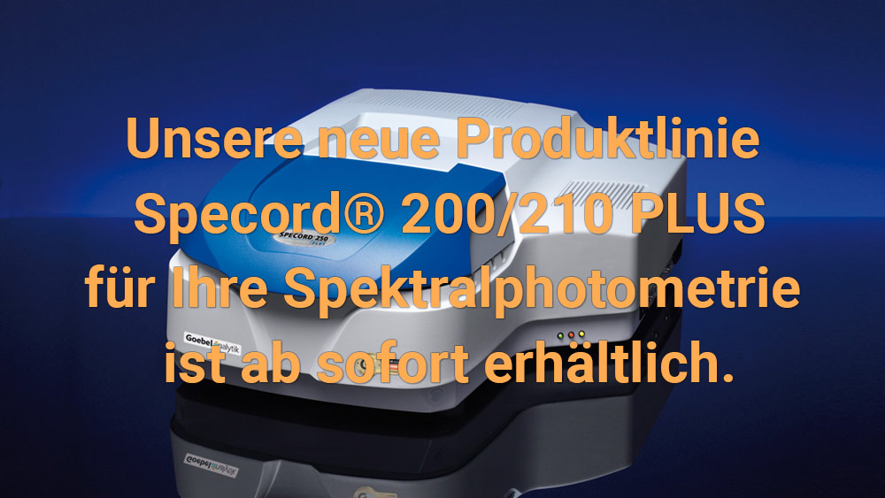 Goebel instrumentelle Analytik GmbH - Specord PLUS ® 200/210 Serie